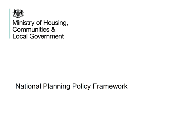 National Planning Policy Framework document